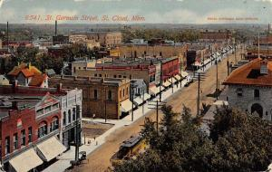 St Cloud Minnesota St Germain Street Scene Antique Postcard K105664