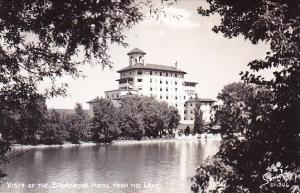 Vista Of The Broadmoor Hotel From The Lake Colorado Spring Colorado Real Photo