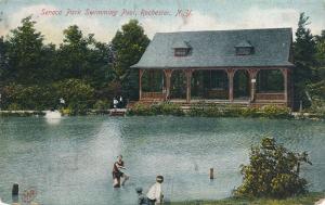 Swimmers at Seneca Park Swimming Pool - Rochester, New York - DB
