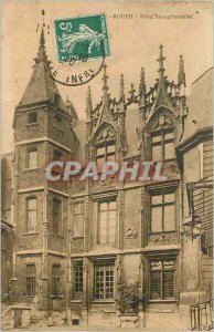 Postcard Old Hotel Bourgtheroulde Rouen