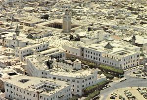 Tunisia Tunis Vue aerienne de la Medina Aerial view Cars Voitures