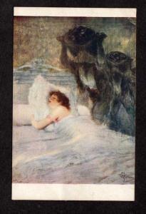 Salons de Paris Albert Guillaume Artist Signed Postcard Carte Postale Dream