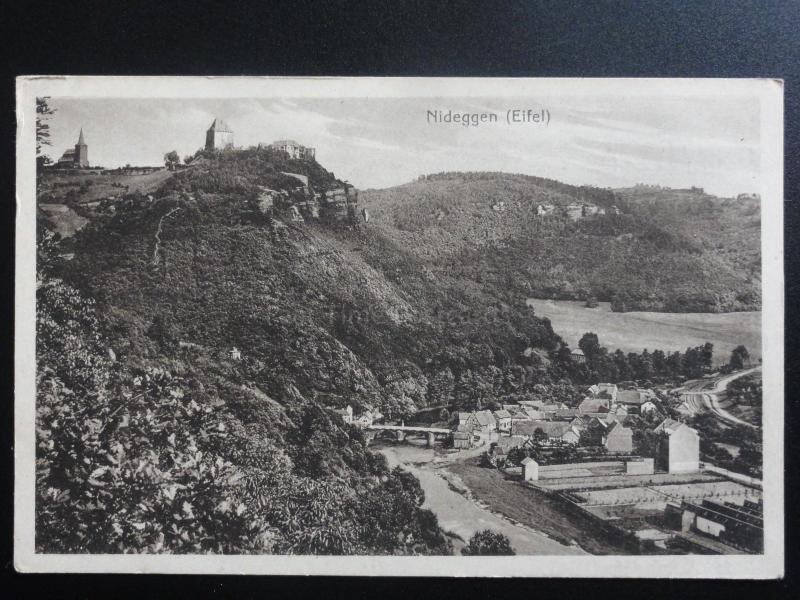 Germany: NIDEGGEN Eifel (message from soldier on march) - Old Postcard