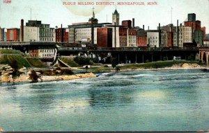 Minnesota Minneapolis View Of Flour Milling District 1910