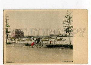 3028210 JAPAN YOKOHAMA Bund Piers & ships view Vintage PC