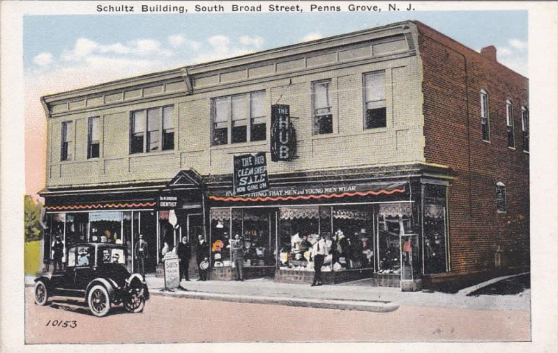 Schultz Building, South Broad Street, Penns Grove, New Jersey, 1910-1920s #2