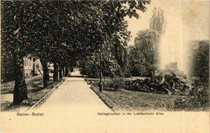 CPA AK Baden-Baden- Springbrunnen in der Lichtentaler Allee GERMANY (889188)