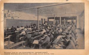 Cedar Rapids IA Commercial Department Blackboard~Business College Postcard 1906
