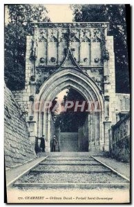 Old Postcard Chambery Chateau Ducal Portal Siant Dominica