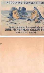 Approx Size Inches = 2.50 x 3 Marburg Bros, Fisherman Cigarette Trade Card