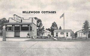 Indian River City Florida Bellewood Cottages and Gas Station Vintage Postcard AA
