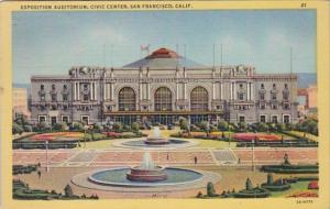 California San Francisco Exposition Auditorium Civic Center 1952