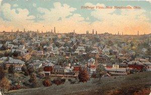 G44/ New Straitsville Ohio Postcard 1914 Birdseye View Homes Oil Wells