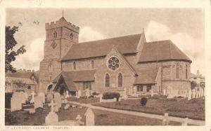 uk132 st leonards church seaford real photo  uk