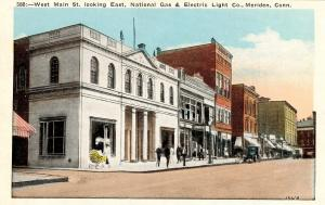 CT - Meriden.  West Main Street looking East, Nat. Gas & Electric Light Co