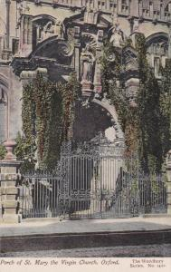OXFORD, Oxfordshire, England, 1900-1910's; Porch Of St. Mary The Virgin Church