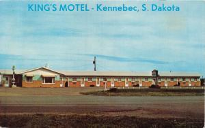 KENNEBEC SOUTH DAKOTA KING'S MOTEL AT INTERCHANGE ON I-90 POSTCARD