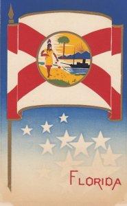 FLORIDA , State Flag , 40-50s ; Serigraph