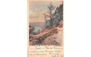 Hawk's Nest Rocks Port Jervis, New York Postcard