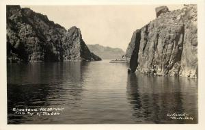 Hiscock RPPC Postcard Shoshone Reservoir from Top of the Dam, ID Unposted