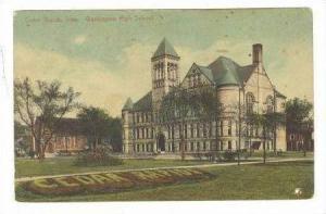 Washington High School, Cedar Rapids, Iowa, 1913 PU