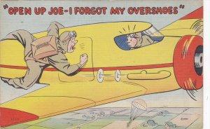 MILITARIA, 1930-1940´s; Open Up Joe I Forgot My Overshoes