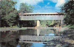 Covered Bridge Vintage Postcard Covered Bridge, Ruddles Mill Bourbon County, ...