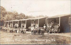 Boys at Camp Erie Heights YMCA Hamilton Ontario fr Bill Cullen RPPC Postcard E63