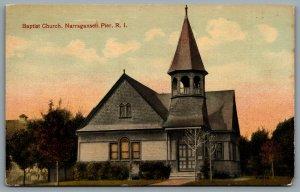 Postcard Narragansett Pier RI c1910s Baptist Church Now Residence 101 Caswell St