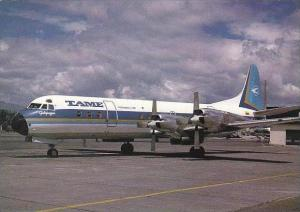 Tame Lockheed L 188A Electra HC AZY Cn 1052 Quito Mariscal Sucre Avril 1988