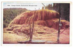 WY Yellowstone National Park Orange Geyser H H Tammen Vintage Postcard