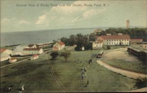 Rocky Point RI Birdseye From Shutes c1910 Postcard - Rotograph