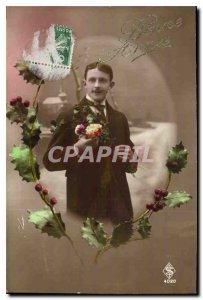 Postcard Bonne Fete Old Man