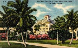 Florida Boca Raton The Boca Raton Club House West Entrance