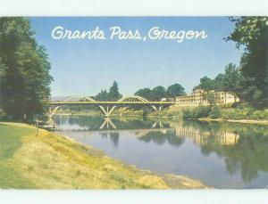 Pre-1980 BRIDGE SCENE Grants Pass Oregon OR HJ0667
