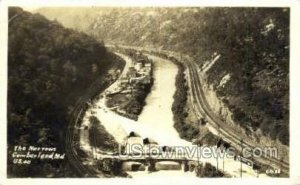 Real Photo - The Narrows in Cumberland, Maryland