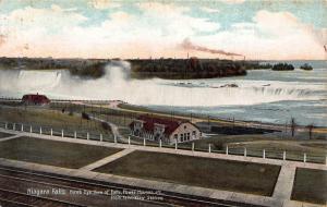 Niagara Falls power houses station postcard