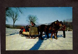 MA Eastover Lenox Horse Sleigh Sled Massachusetts Postcard Berkshires Postcard