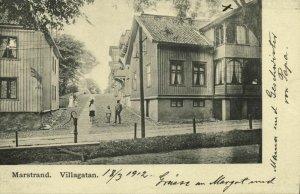 sweden, MARSTRAND, Villagatan (1912) Postcard