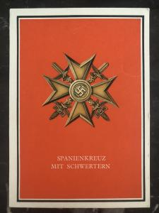 Mint Germany Patriotic Postcard Spain Cross with Swords