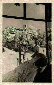 Algeria Chrea Un coin des Chalets Winter Hotel Ski Postcard