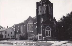 Illinois Bushnell First Methodist Church Real Photo RPPC