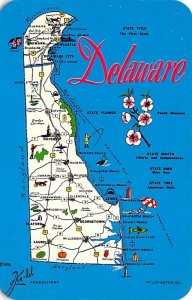 Maps Delaware USA Unused