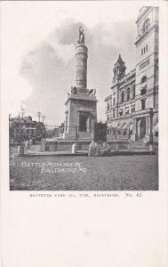 BALTIMORE, Maryland, 1900-1910's; Battle Monument