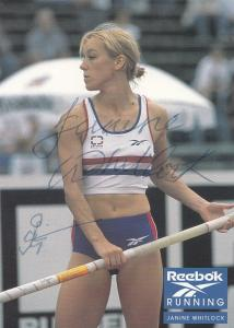 Janine Whitlock Olympic Games Pole Vault Hand Signed Photo