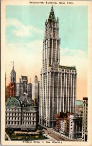 Woolworth Building, New York City, New York NY Vintage - PC - POSTCARD