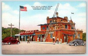 Wisconsin Dells Wisconsin~Parsons Indian Village~Zuni Indian Pueblo House~1940s