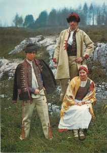 Traditions ethnic Postcard costume poppulaire Folklore Krakow Poland