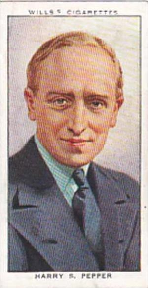 Wills Cigarette Card Radio Celebrities No 22 Harry S Pepper