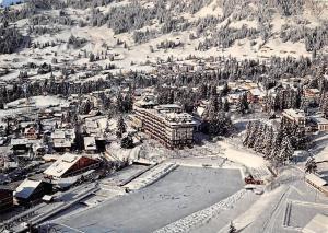 Switzerland Villars s/Ollon Alpes Vaudoises, Villars Palace Winter Air view